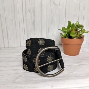 Fossil Genuine Leather Black Belt Large Buckle
